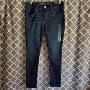 NWT American Eagle Indigo Wash Jeggings Sz 8 Short